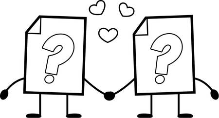A cartoon illustration of an unknown file holding hands.
