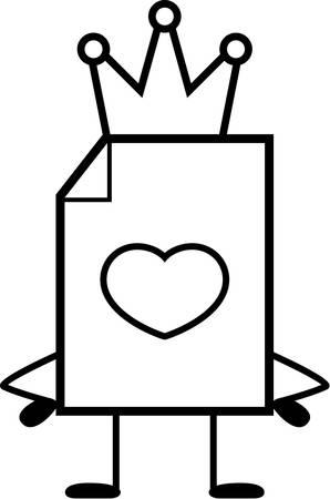 Un fumetto illustrazione di un San Valentino con una corona. Archivio Fotografico - 43362640