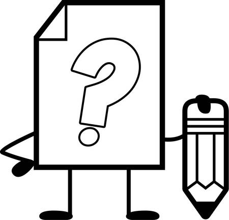 unknown: A cartoon illustration of an unknown file with a pencil.