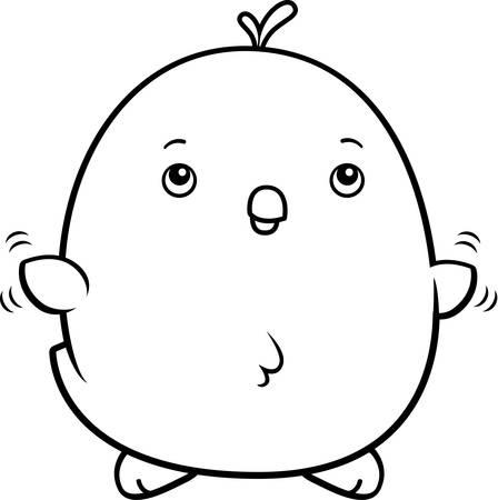 baby chicken: A cartoon illustration of a baby chicken flying.