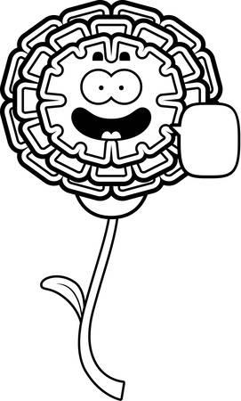 cempasuchil: Una ilustraci�n de dibujos animados de un parlante de cal�ndula.