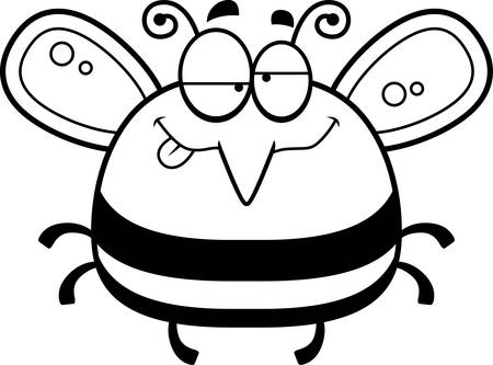 impaired: A cartoon illustration of a bee looking drunk.