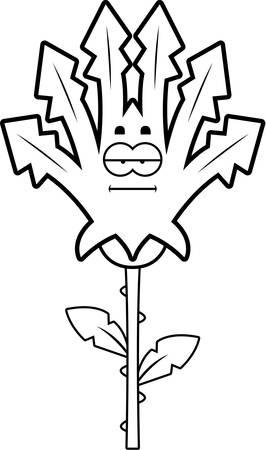 穏やかな探している雑草の漫画イラスト。