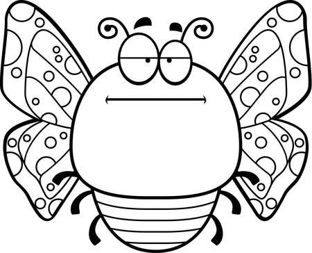探している蝶の漫画イラストは退屈。