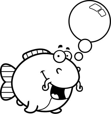 catfish: A cartoon illustration of a catfish talking.