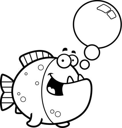 Una Ilustración De Dibujos Animados De Un Parlante De Pirañas ...