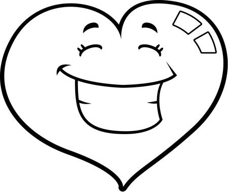 A cartoon red heart happy and smiling. Stock fotó - 43374487