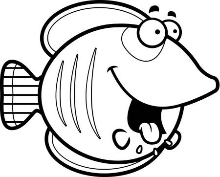 butterflyfish: A cartoon illustration of a butterflyfish looking hungry.