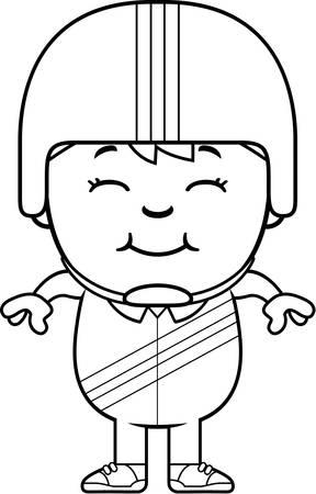 daredevil: A cartoon illustration of a little daredevil smiling.