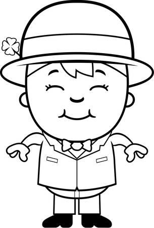 レプラコーンの衣装で幸せな漫画少年。