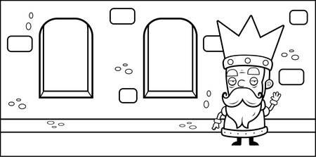 城で漫画の小さな王様。