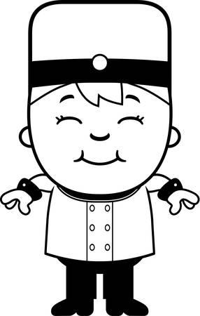 Une illustration de bande dessinée d'un enfant groom en souriant. Banque d'images - 43821915