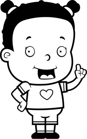 toddler: A happy cartoon toddler with an idea. Illustration