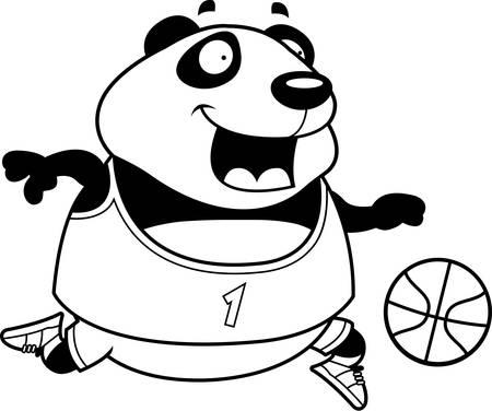 Ilustración Blanco Y Negro De Una Pelota De Baloncesto Jugando Oso ...