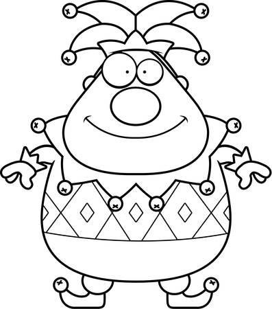 entertainer: A cartoon jester standing and smiling.