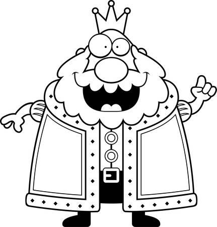 아이디어와 함께 행복 한 만화 왕입니다. 일러스트