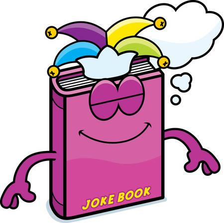 A cartoon illustration of a joke book dreaming.  イラスト・ベクター素材