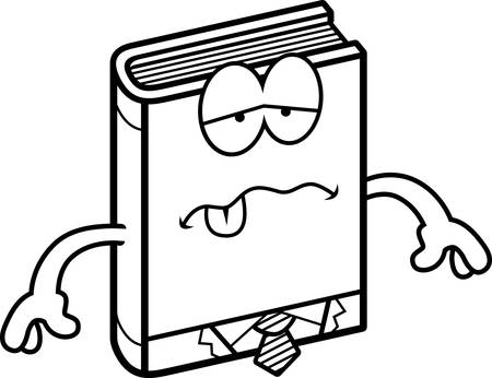 nauseous: A cartoon illustration of a business book looking sick.