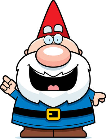 gnome: A cartoon illustration of a gnome with an idea.