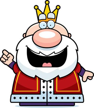A cartoon illustration of a king with an idea. Reklamní fotografie - 44860498