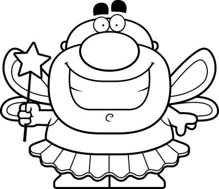 tooth fairy: A cartoon illustration of the Tooth Fairy smiling.