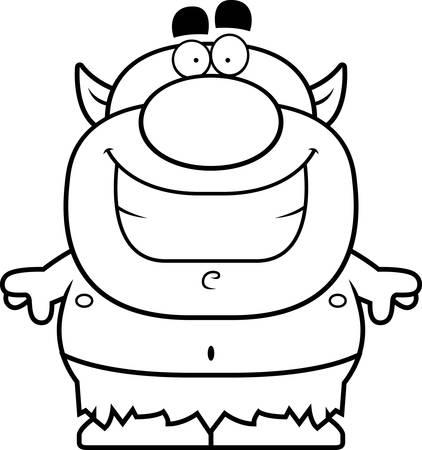 小悪魔笑顔の漫画イラスト。