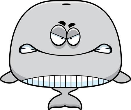 orificio nasal: Un ejemplo de la historieta de una ballena que parece enojado.