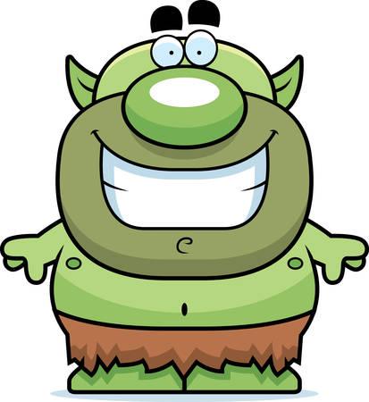 goblin: A cartoon illustration of a goblin smiling.
