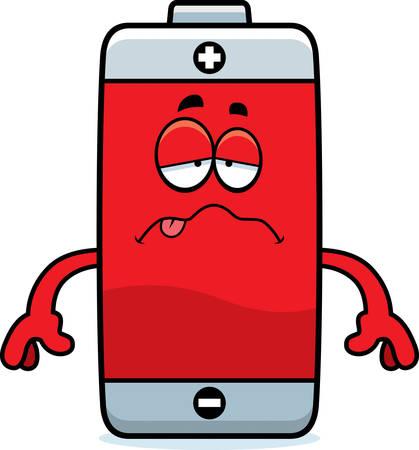 Un fumetto illustrazione di una batteria cercando malati. Archivio Fotografico - 44859222