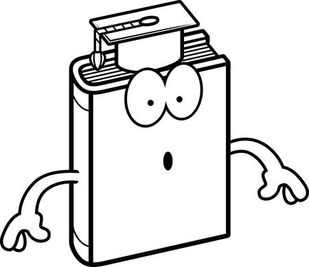 textbook: A cartoon illustration of a textbook looking surprised.