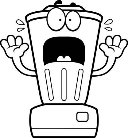 liquidiser: A cartoon illustration of a blender looking scared.