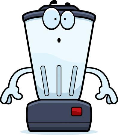 liquidiser: A cartoon illustration of a blender looking surprised.