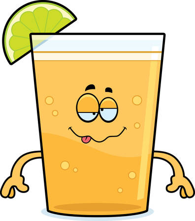 Kreslený ilustrace piva s vápnem hledá opilý. Ilustrace
