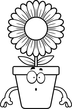 bloempot: A cartoon illustration of a flowerpot looking surprised.