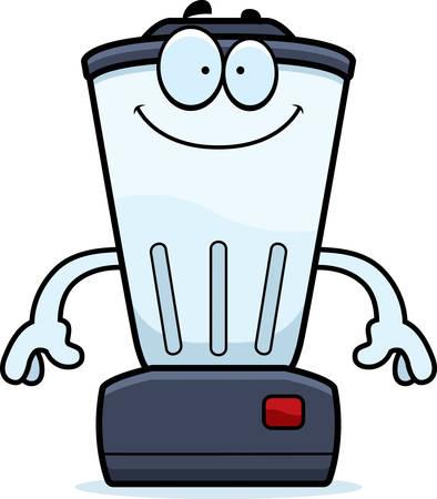 liquidiser: A cartoon illustration of a blender looking happy.