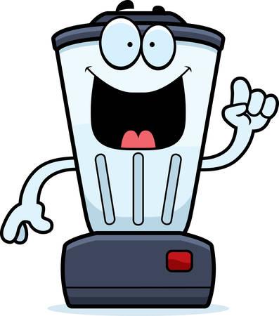 liquidiser: A cartoon illustration of a blender with an idea.