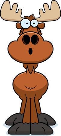 eurasian: A cartoon illustration of a moose looking surprised.