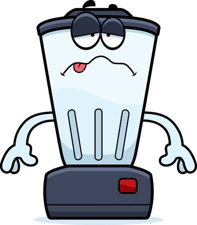 liquidiser: A cartoon illustration of a blender looking sick.