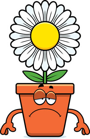 bloempot: A cartoon illustration of a flowerpot looking sad.
