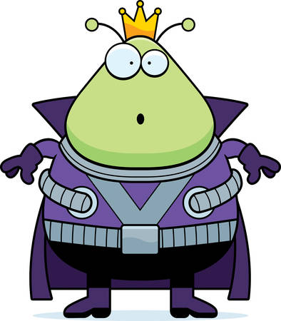 alien clipart: A cartoon illustration of a Martian king looking surprised.
