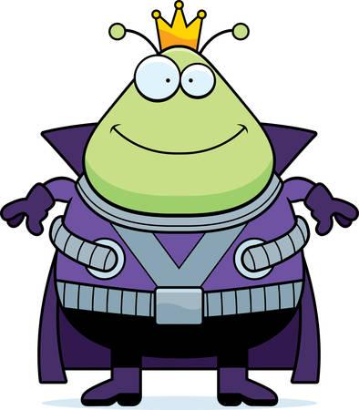 martian: A cartoon illustration of a Martian king smiling.
