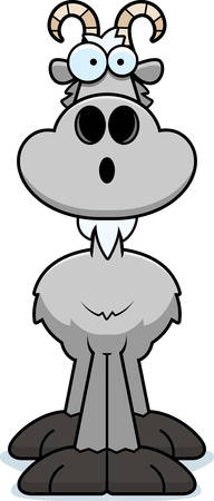 billy: A cartoon illustration of a goat looking surprised. Illustration