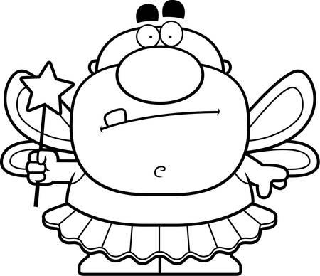 godmother: A cartoon Tooth Fairy man in a tutu.