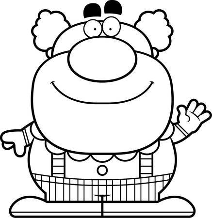 entertainers: A cartoon illustration of a clown waving.