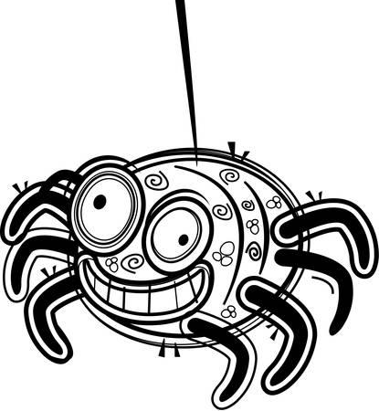 arachnid: A cartoon purple spider happy and smiling.