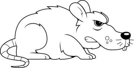 vermin: A cartoon gray rat with an angry expression.