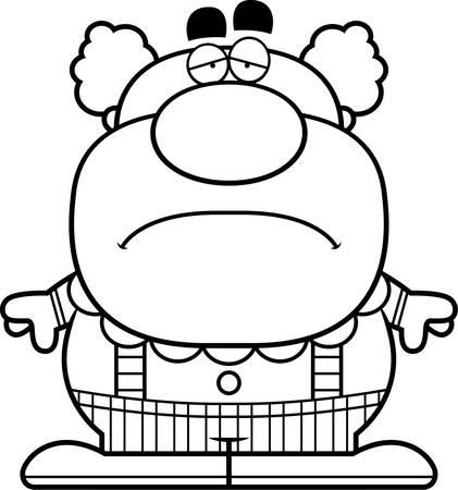 見て悲しいピエロの漫画イラスト。