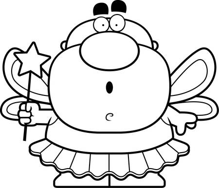 tooth fairy: A cartoon illustration of a tooth fairy looking surprised. Illustration