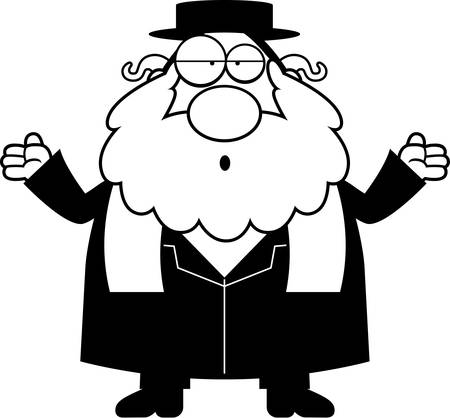 the rabbi: A cartoon illustration of a rabbi looking confused.