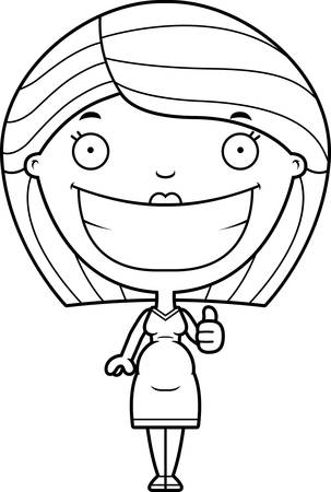 dress up: A cartoon illustration of a pregnant woman giving a thumbs up.
